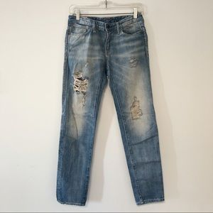 Polo Ralph Lauren distressed boyfriend jeans
